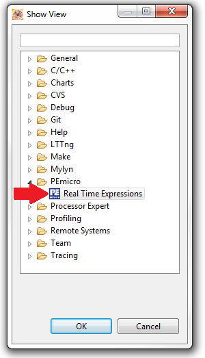 Select 'Real Time Expressions'